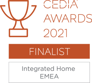 Cedia integrated home award 2021 integrated smart home automation kent